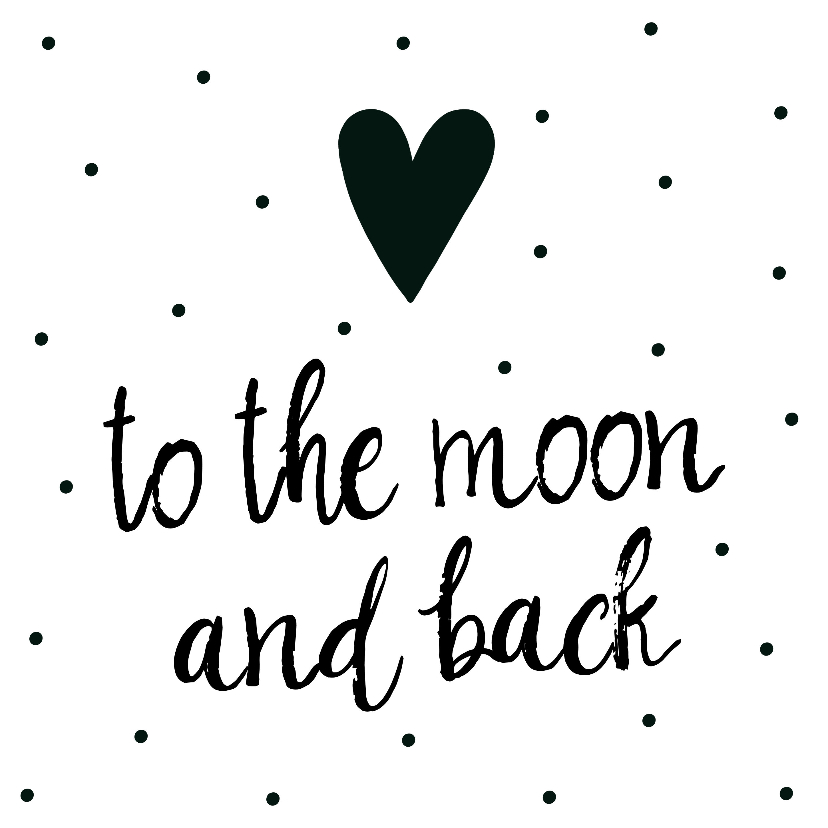 "Liefde kaarten - Liefde kaart ""to the moon and back"""