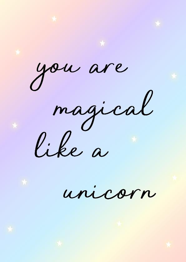 Liefde kaarten - Liefde kaart Unicorn