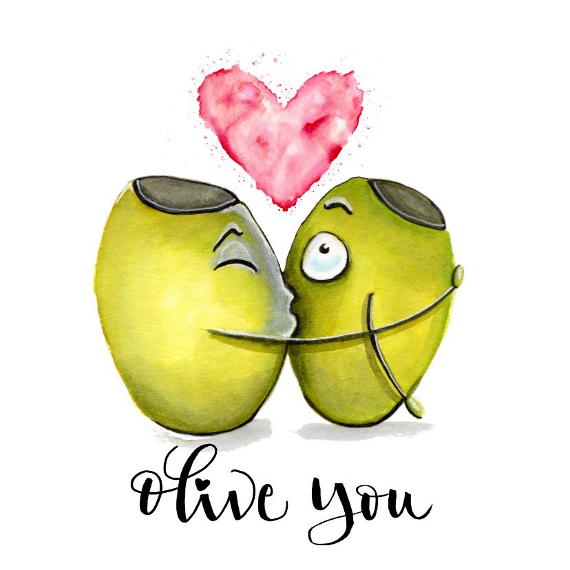 Liefde kaarten - Liefde kaarten Olive you