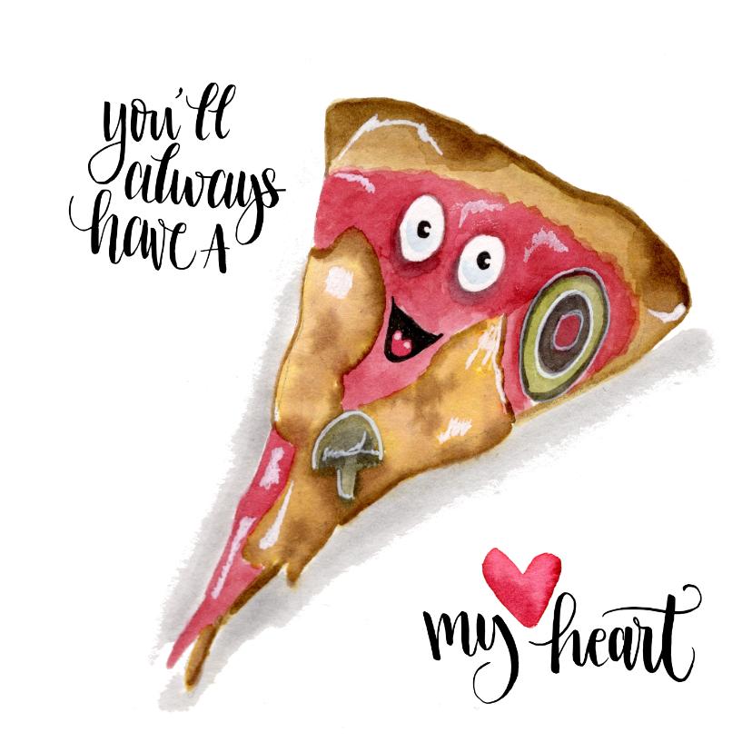 Liefde kaarten - Liefde kaarten Pizza