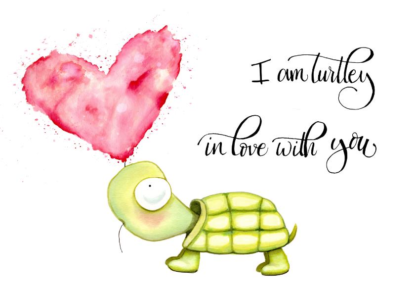 Liefde kaarten - Liefde kaarten Turtle