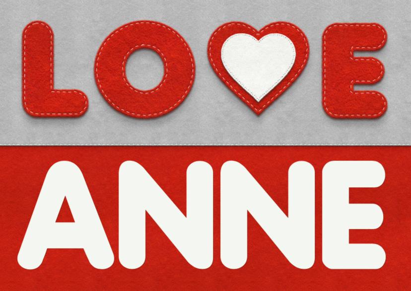 Liefde kaarten - Liefde -  love eigen naam