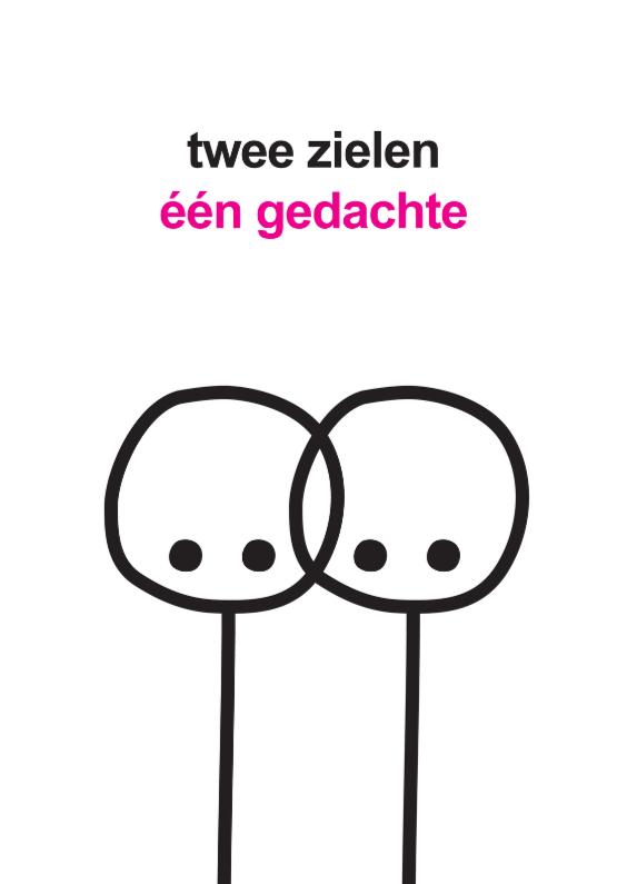 Liefde kaarten - Liefde Mimiez Twee Zielen