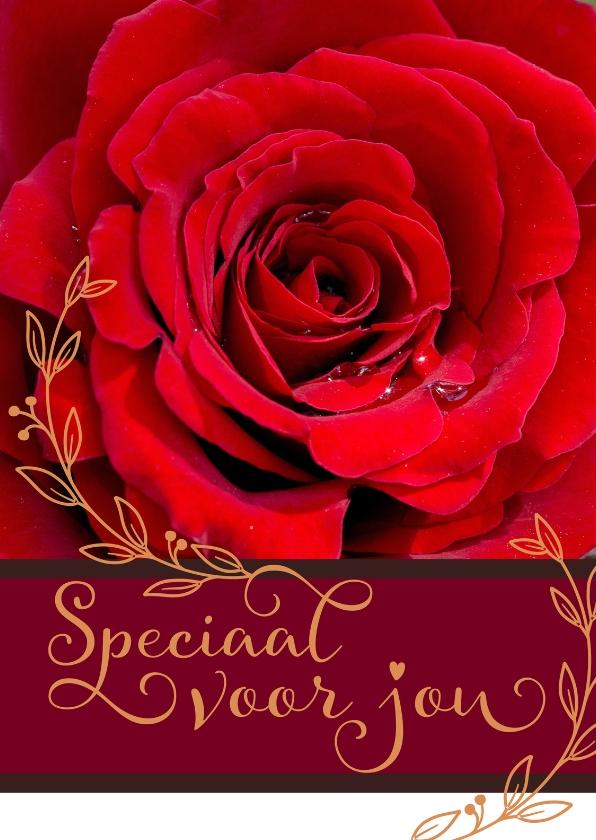 Liefde kaarten - Liefde Rode Roos - A