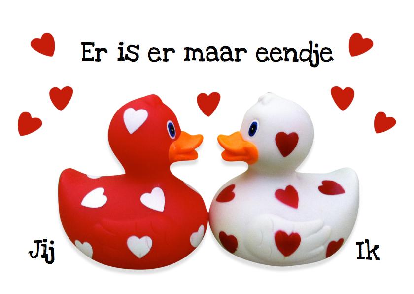 Liefde kaarten - Liefde Valentijn Eendje voor mij