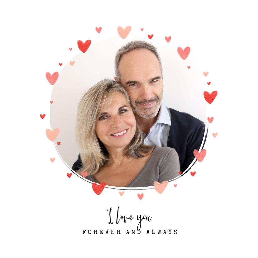 Liefde kaarten - Liefdekaart foto hartjes persoonlijk liefde
