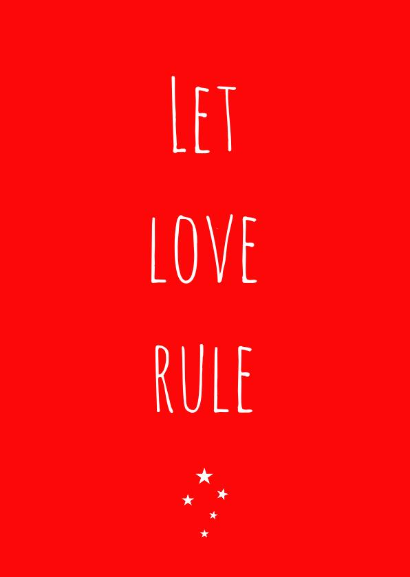 Liefde kaarten - Liefdekaart Love