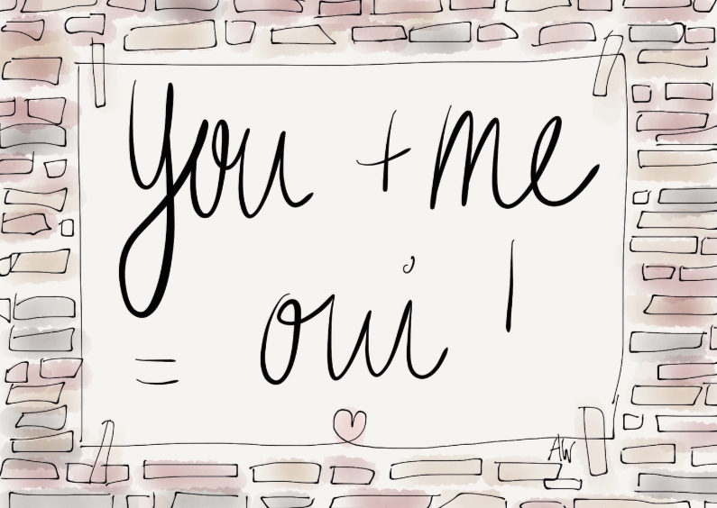 Liefde kaarten - Liefdekaart You & Me