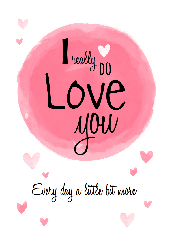 Liefde kaarten - Liefdeskaart ... echte liefde