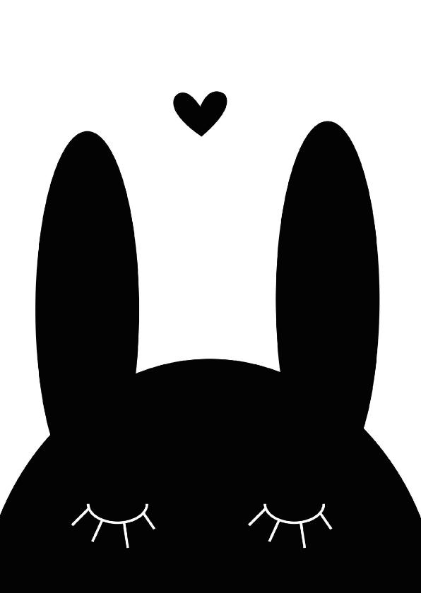Liefde kaarten - Liefdeskaart Love U konijn