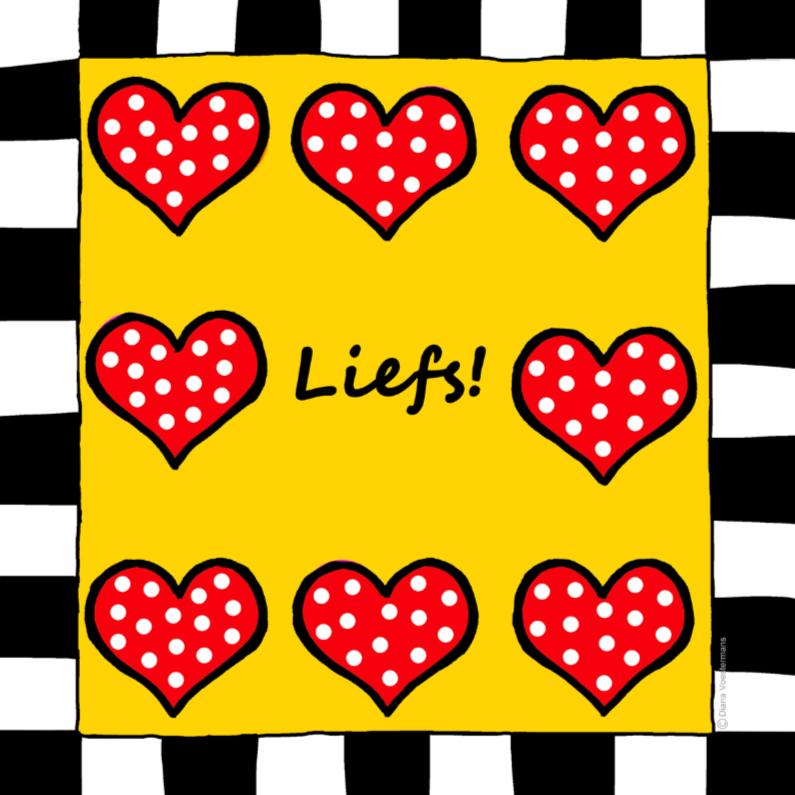 Liefde kaarten - Liefs met rode hartjes