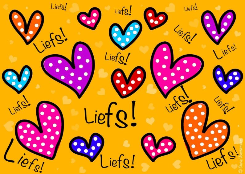 Liefde kaarten - Liefs vrolijke hartjes