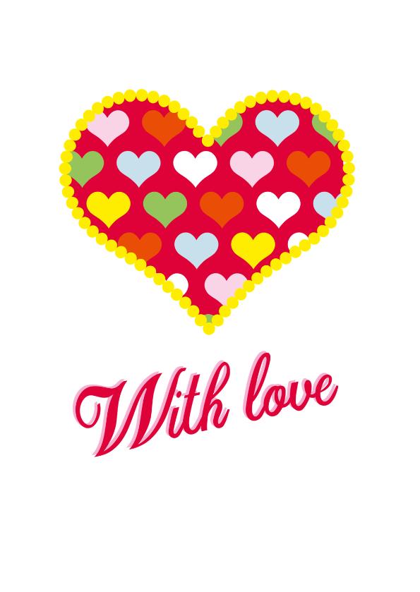 Liefde kaarten - Lots of love WK02