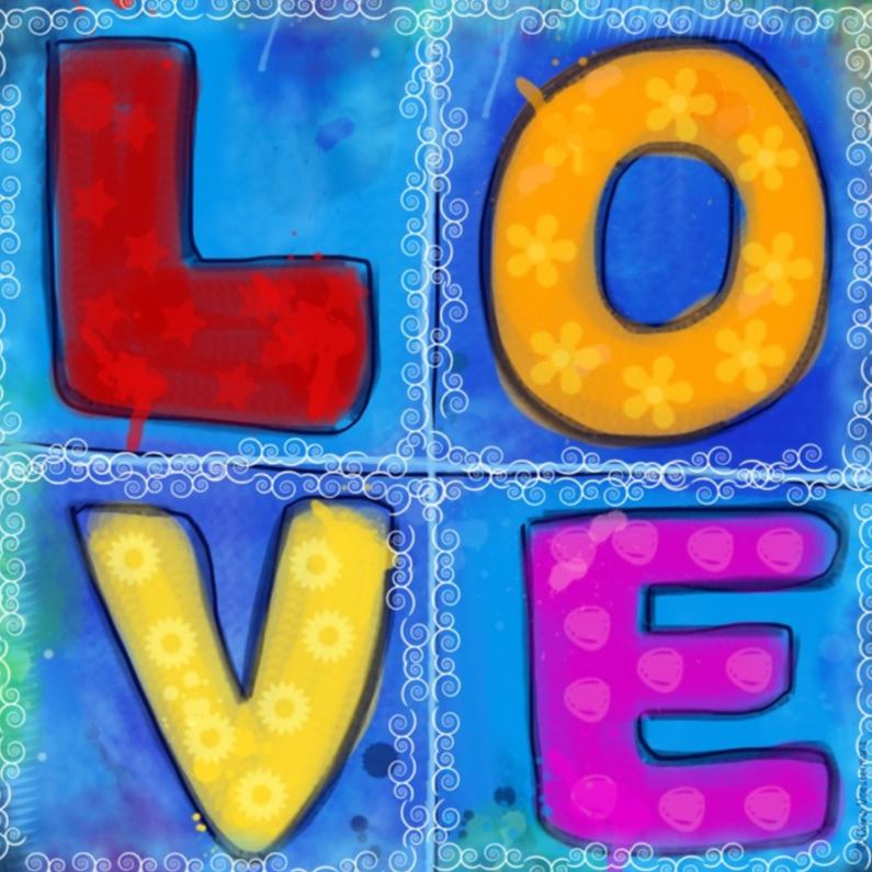 Liefde kaarten - LOVE