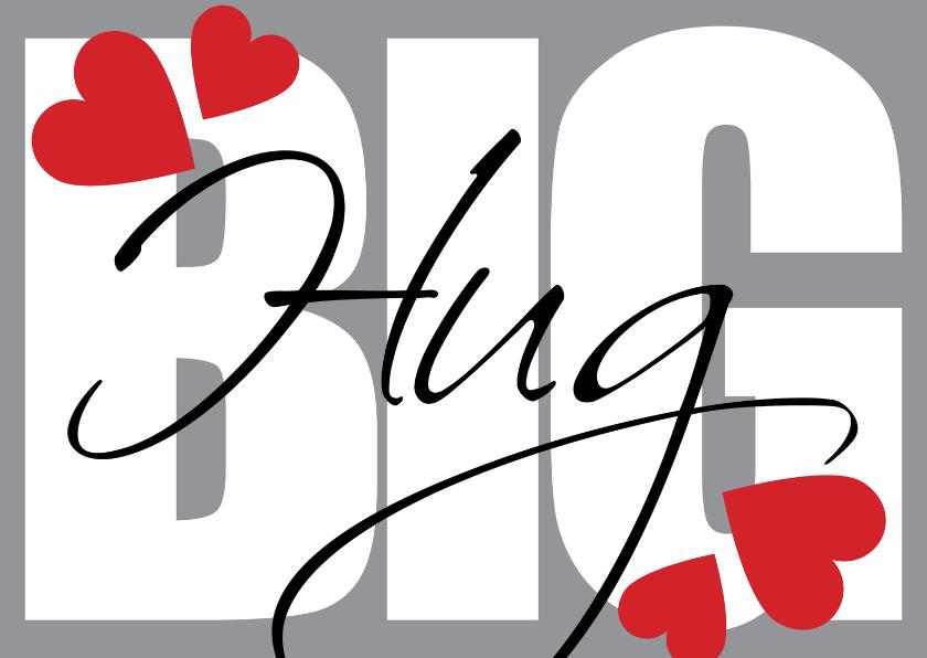 Liefde kaarten - Love Big Hug