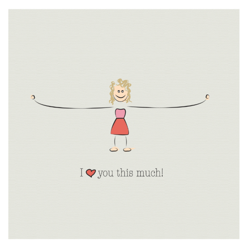 Liefde kaarten - Love you this much