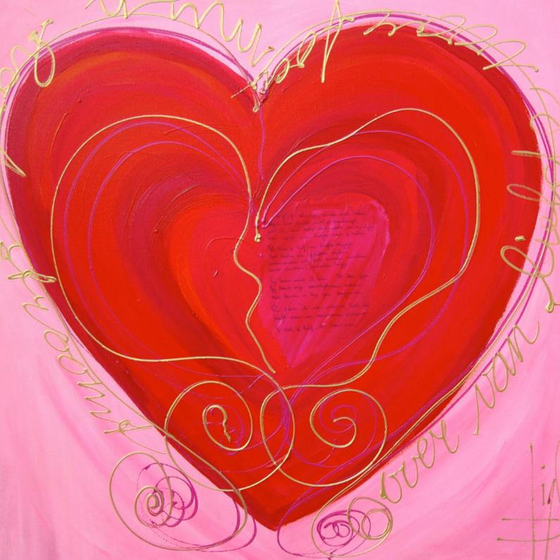 Liefde kaarten - Mijn hart stroomt over