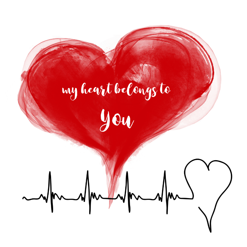 Liefde kaarten - My heart belongs to you