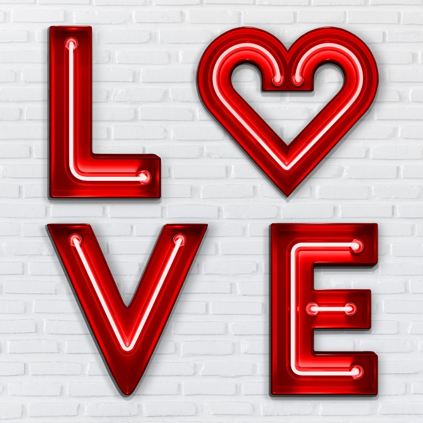 Liefde kaarten - Neon Love Letters