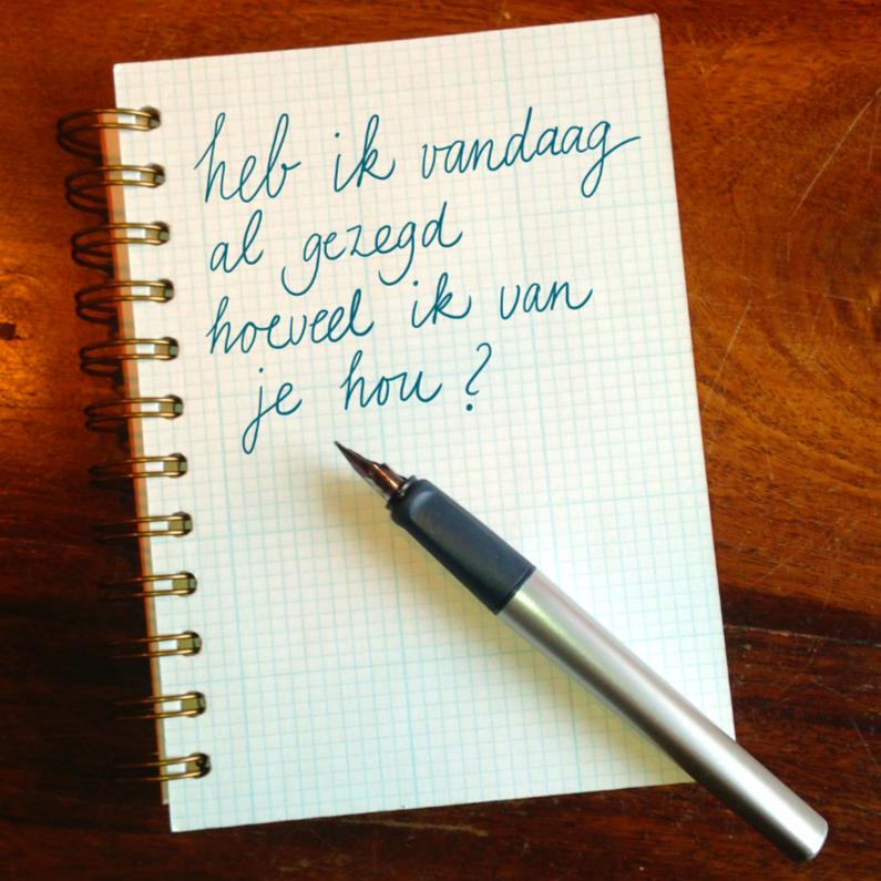 Liefde kaarten - Notebook kaart Liefde
