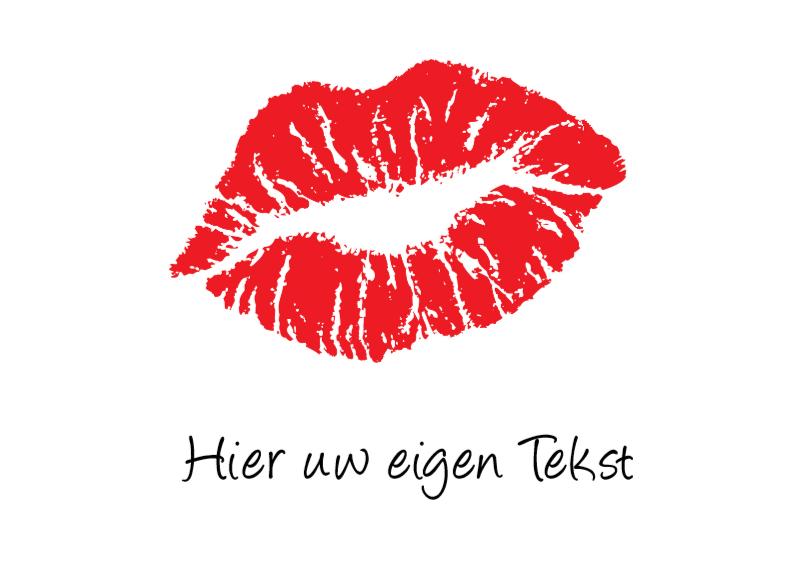 Liefde kaarten - nr27-liefde2d-lipstick