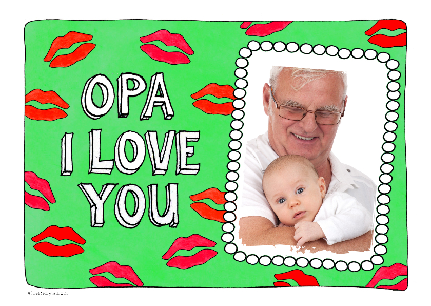 Liefde kaarten - Opa I love you - SD