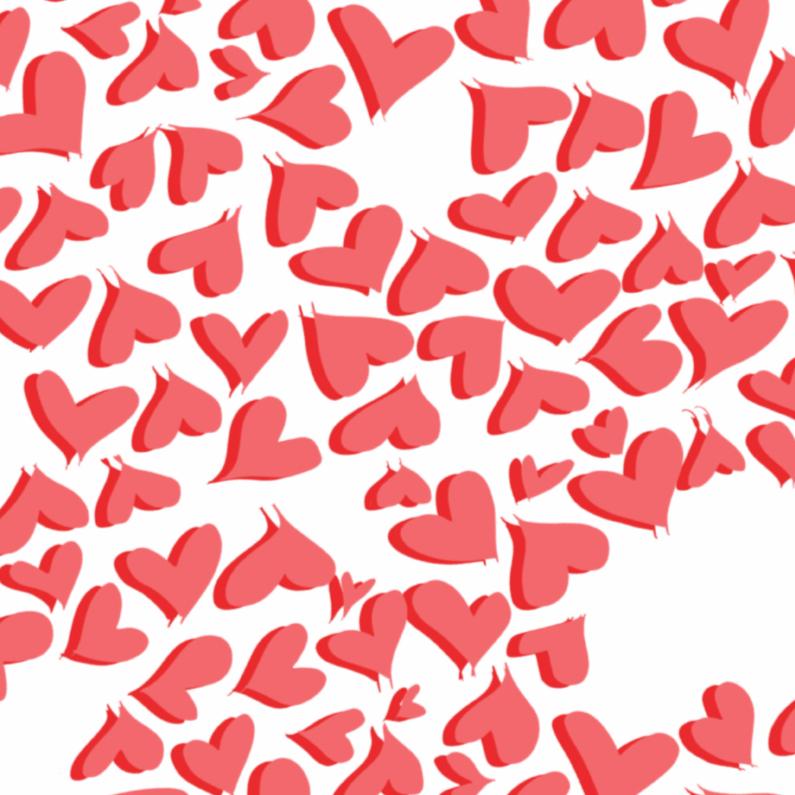 Liefde kaarten - Overal hartjes
