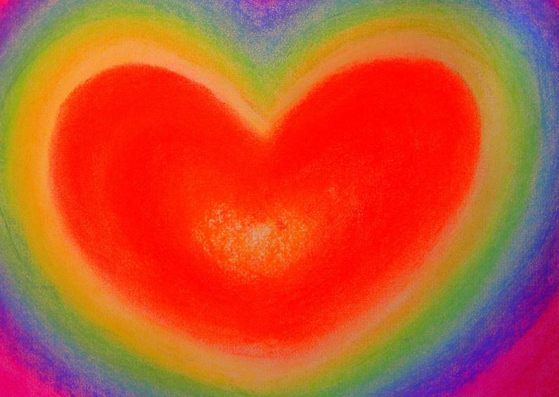 Liefde kaarten - Rainbow Heart