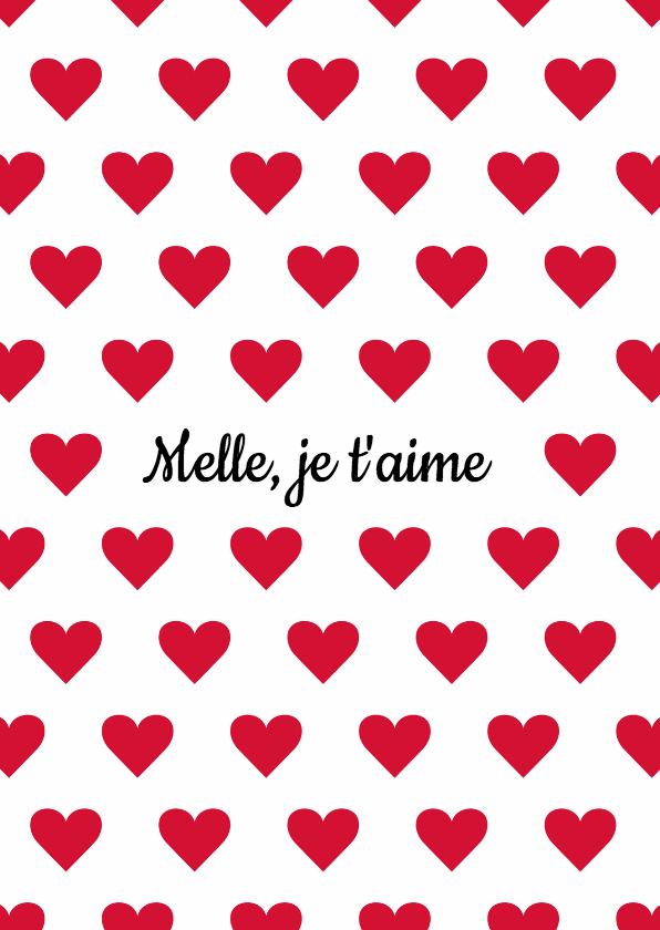 Liefde kaarten - Valentijnskaart Je t'aime
