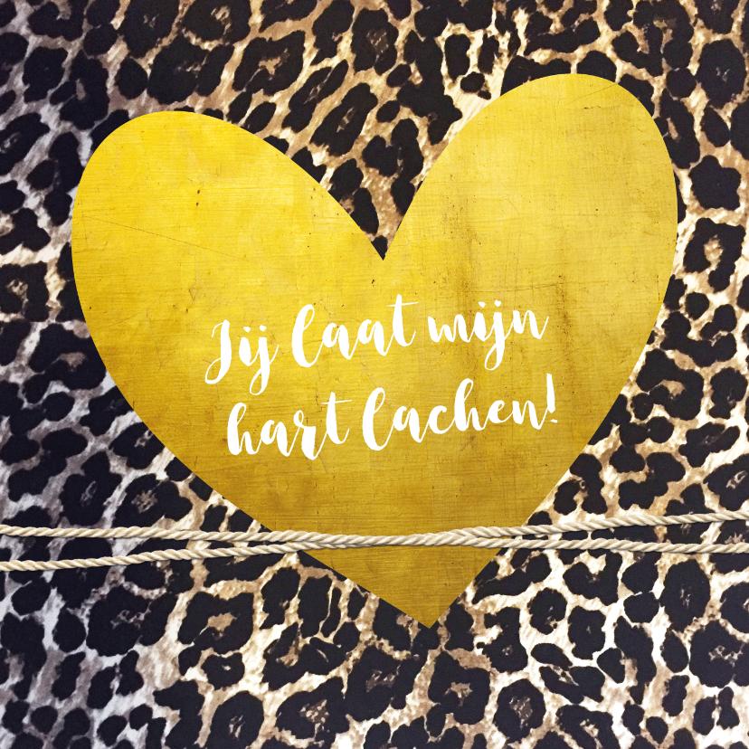 Liefde kaarten - Liefdeskaart  met dierenprint