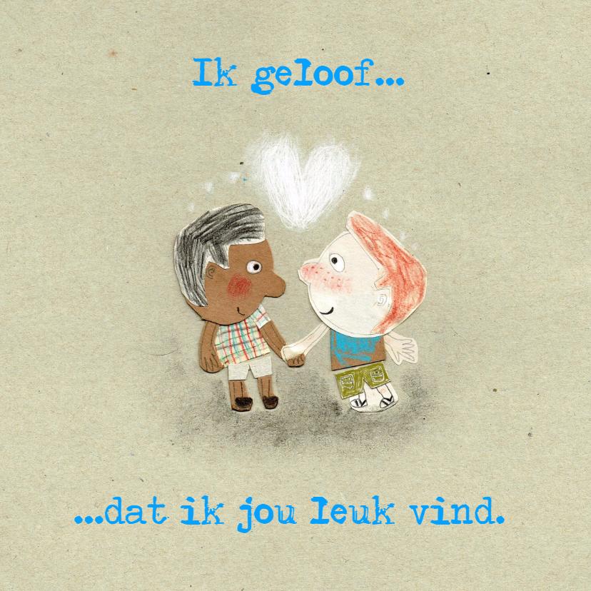 Liefde kaarten - Verliefd twee jongens - MB