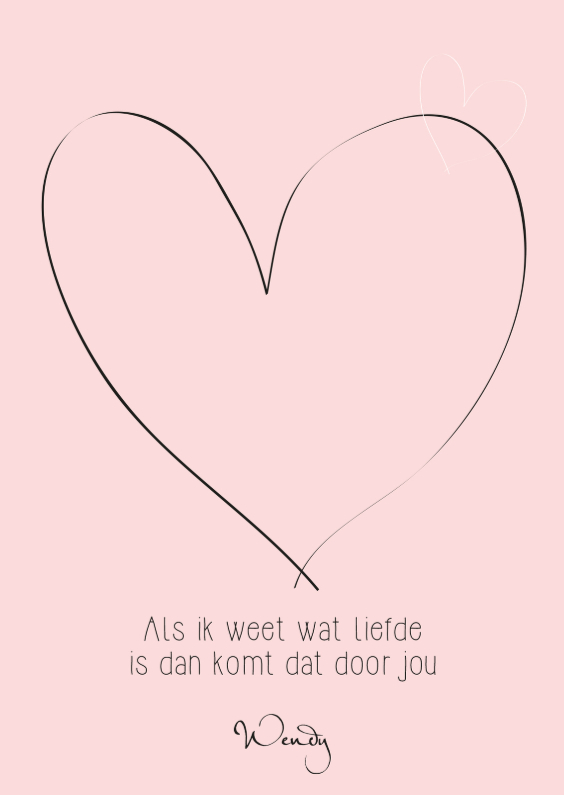 Liefde kaarten - WENDY-kaart Wat Liefde Is