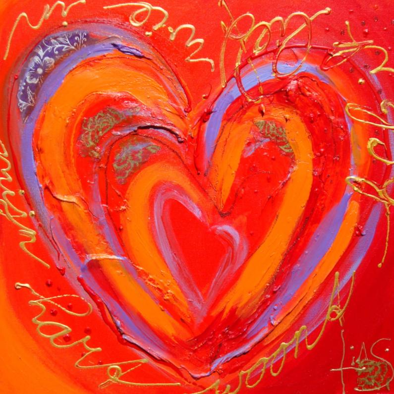 Liefde kaarten - Wie in mijn hart woont ...
