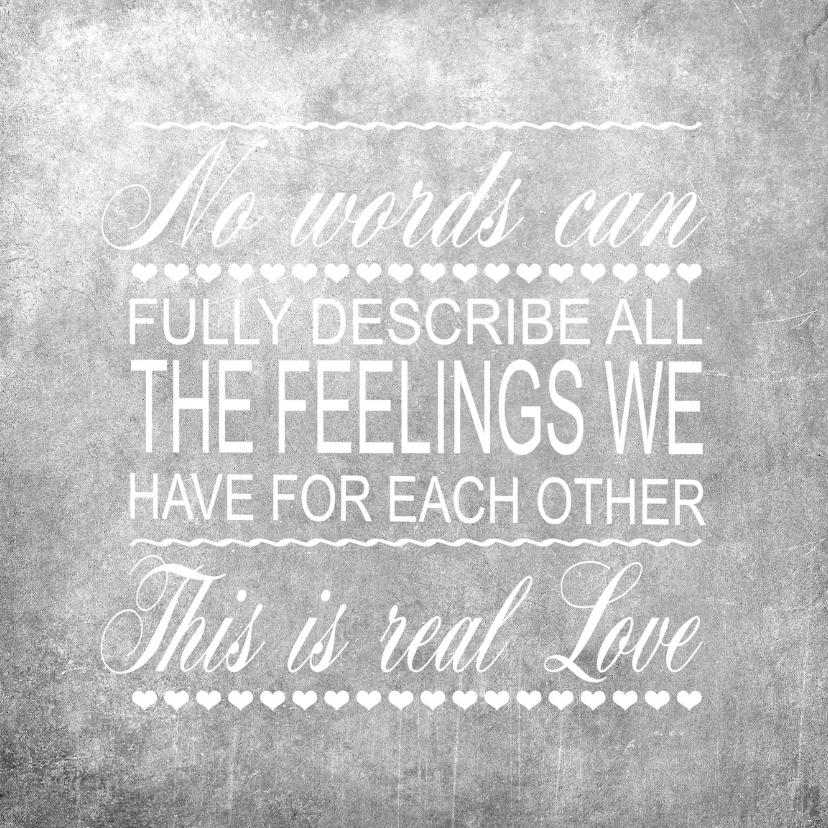Liefde kaarten - Woorden Krijt zwart Liefde - BK
