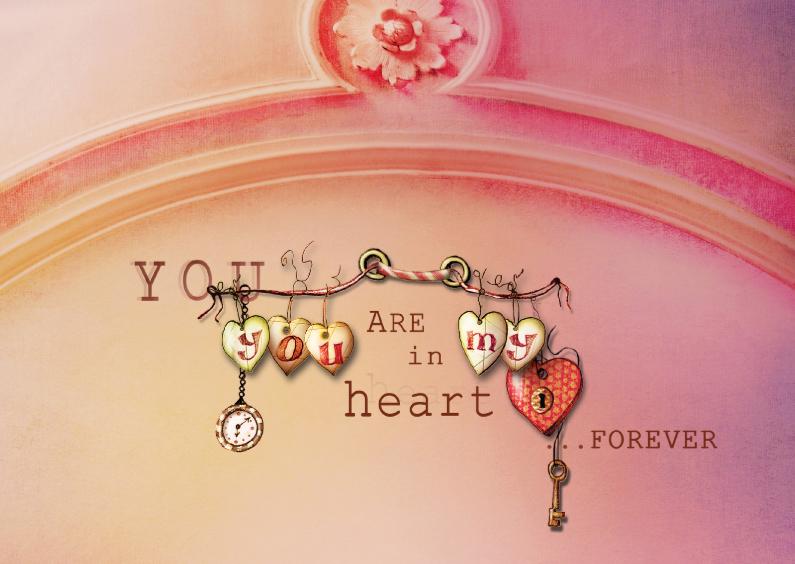 Liefde kaarten - You are in my heart forever
