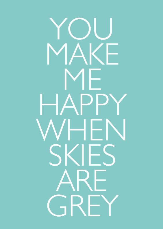 Liefde kaarten - You make me happy