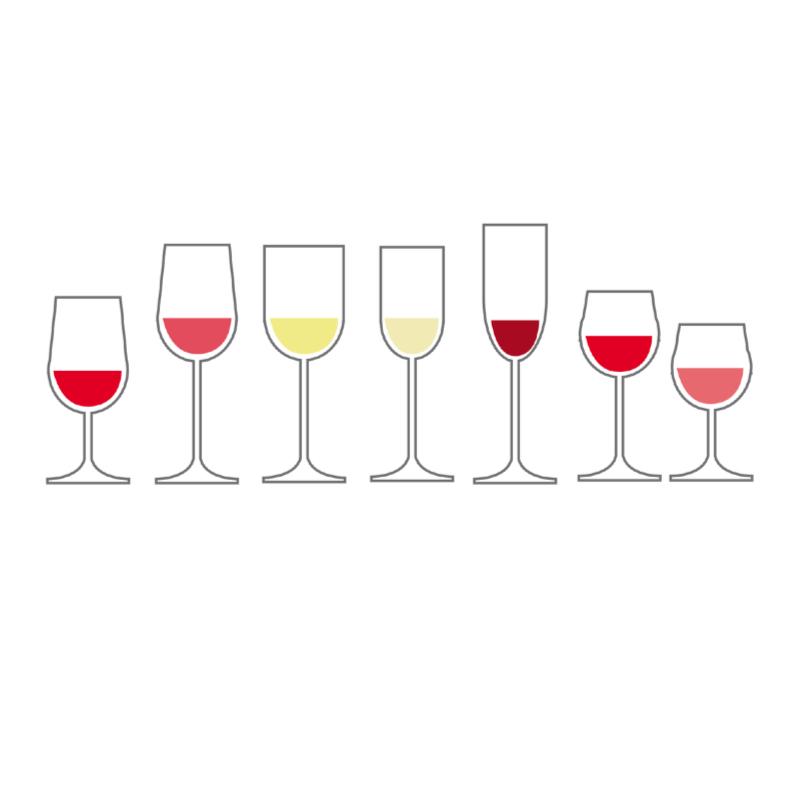 Menukaarten - Divers wijnglazen 8