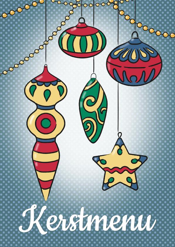 Menukaarten - Kerstmis menukaart