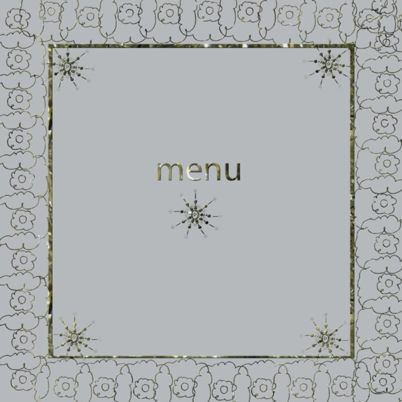 Menukaarten - menu met gouden randje1