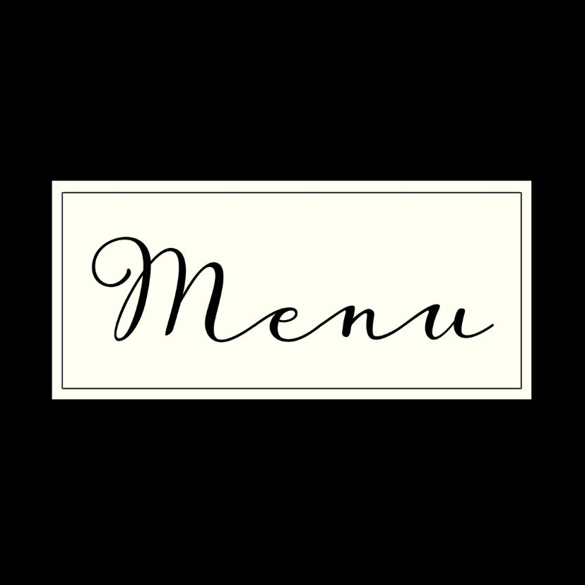 Menukaarten - menukaart chique zwart label