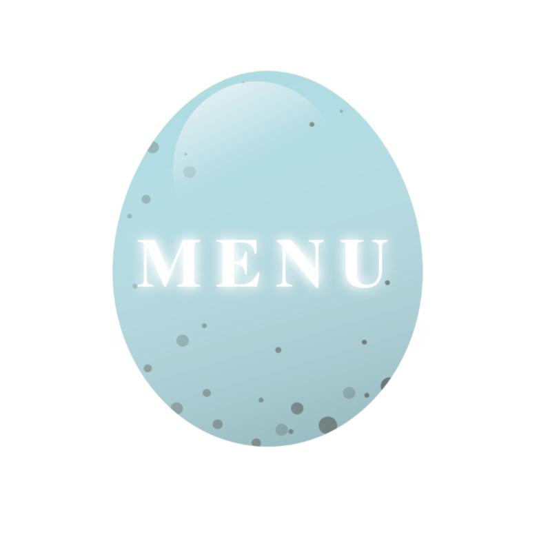 Menukaarten - Paaskaart menu