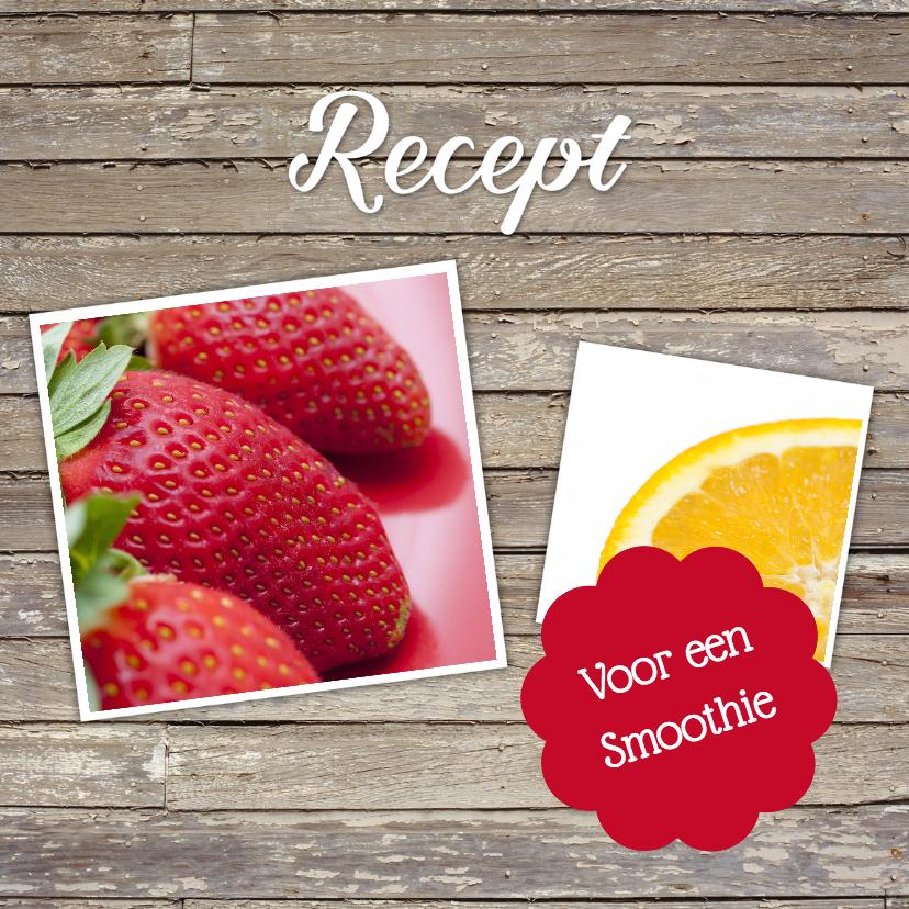 Menukaarten - Recept voor een smoothie - DH