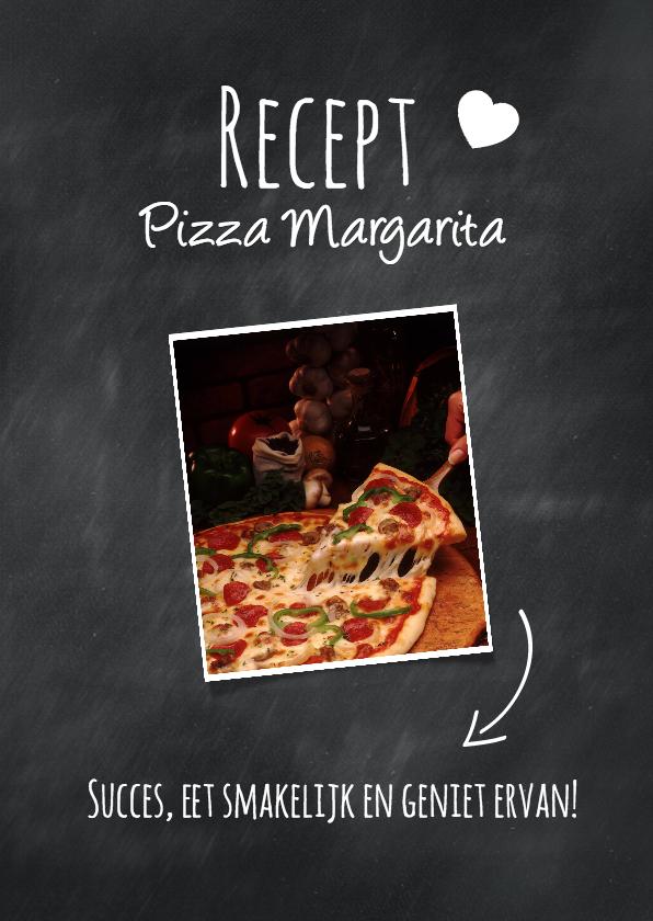 Menukaarten - Recept voor pizza Margarita-isf