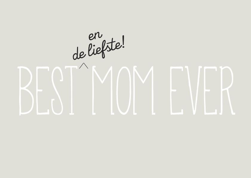 Moederdag kaarten - Best mom moederdagkaart