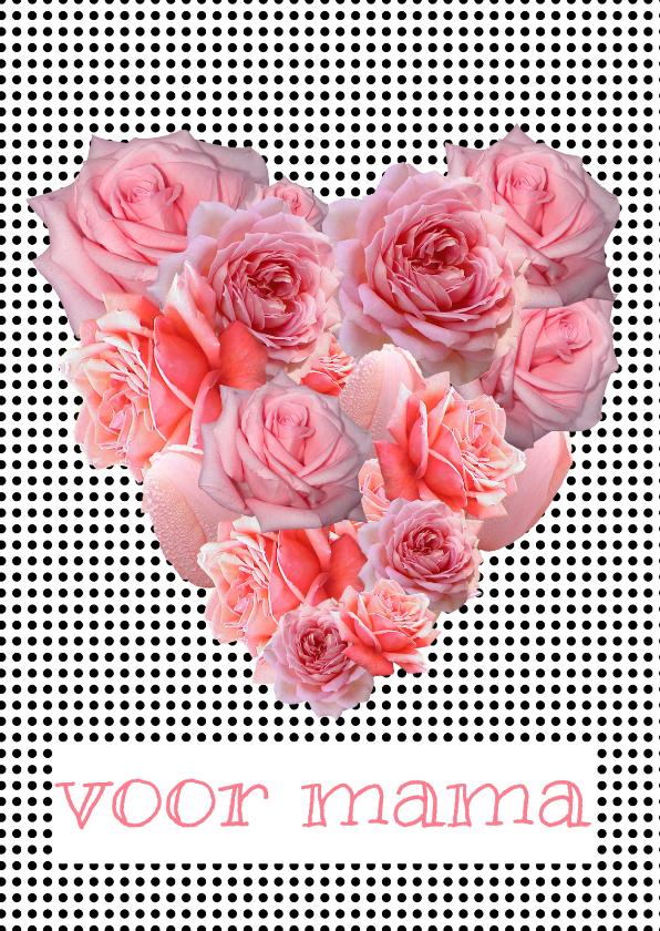 Moederdag kaarten - Bloemenkaart Hart bloem