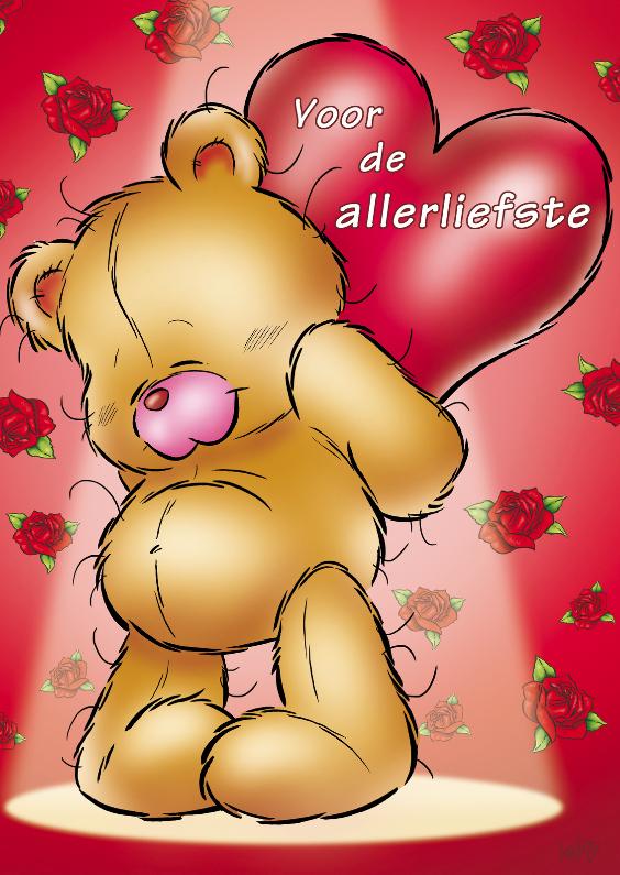 Moederdag kaarten - bristy moederdag 2 beer met hart