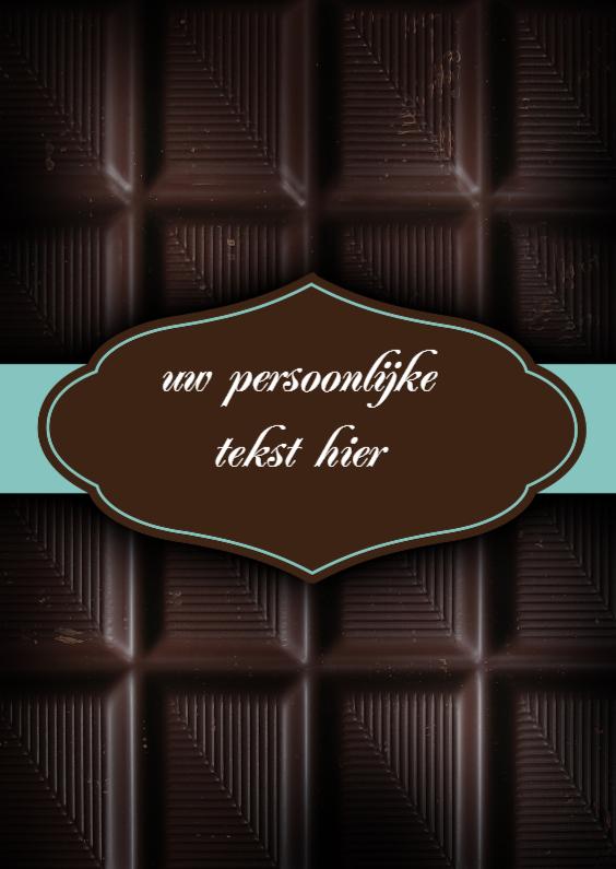 Moederdag kaarten - chocolade kaart met naam