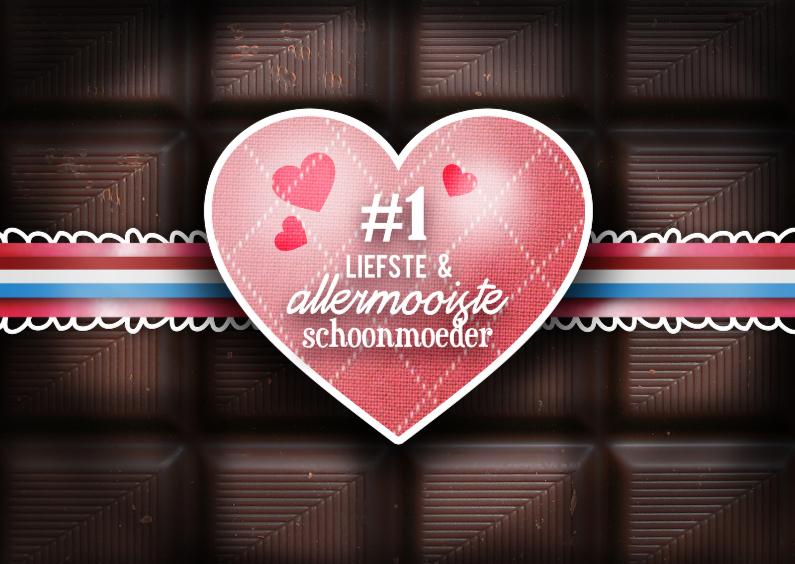 Moederdag kaarten - Chocoladekaart - schoonmoeder