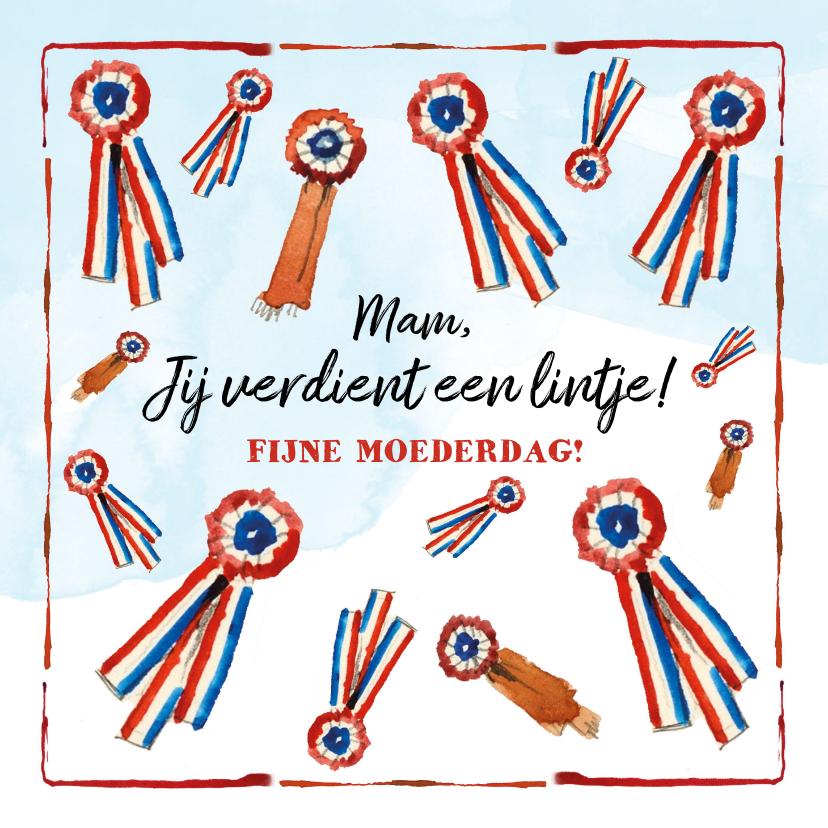 Moederdag kaarten - Een lintje voor de beste moeder