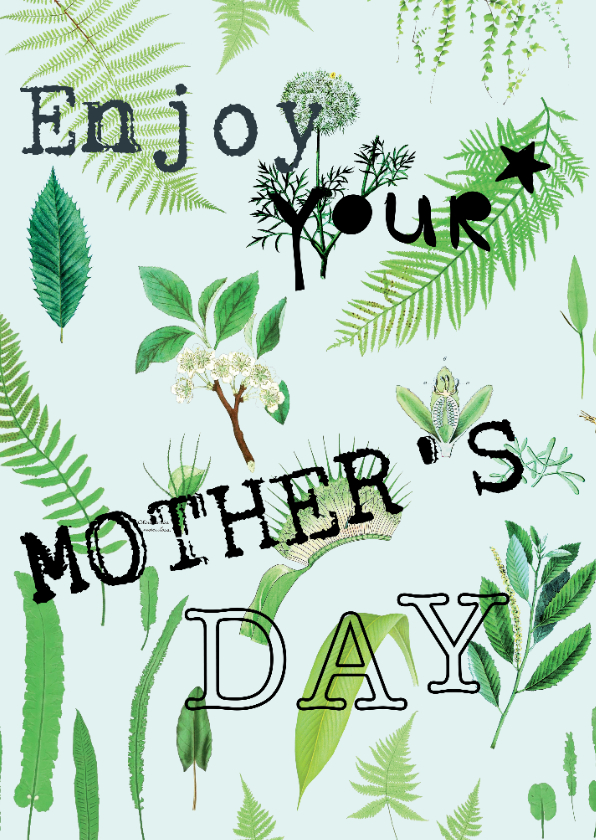 Moederdag kaarten - Enjoy your mother's day